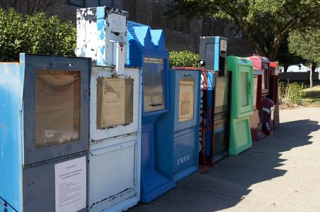 newsworthy: Row of newspaper boxes