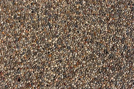 Texture of pebbles in an exposed aggregate foundation photo