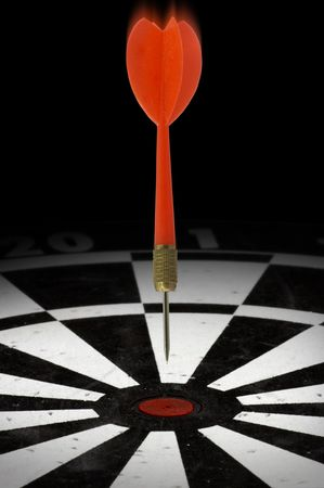 Dart headed for a bulls eye