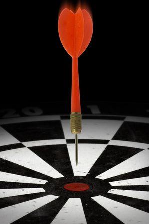 pinpoint: Dart headed for a bulls eye