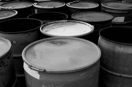 55 gallon waste drums Stock Photo - 309747
