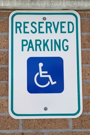 Parking spots reserved for those with disabilities