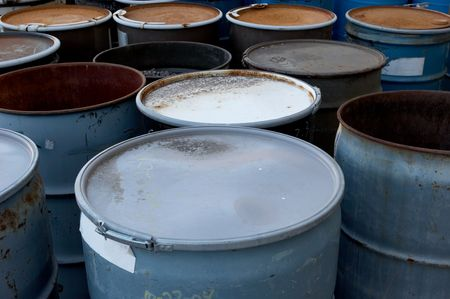 55 gallon waste drums Stock Photo - 317964