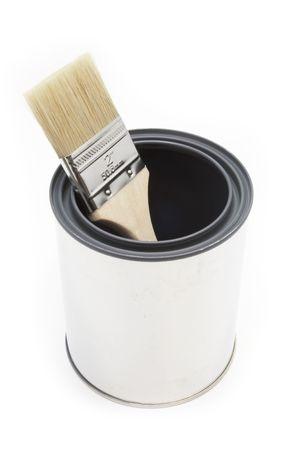 New paint brush and bucket photo