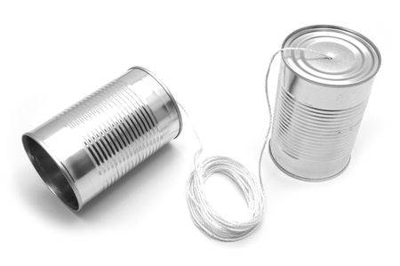 vibrate: made of tin cans and string