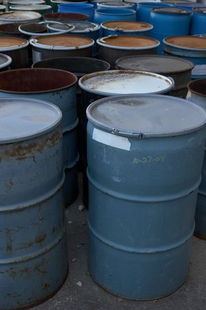 55 gallon drums Stock Photo - 475313