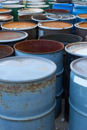 55 gallon waste drums Stock Photo - 521394