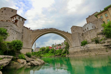Old bridge in Mostar, Bosnia and Herzegovina photo