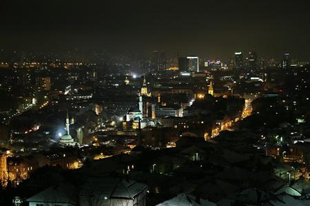 sarajevo: Sarajevo panoramic view by night