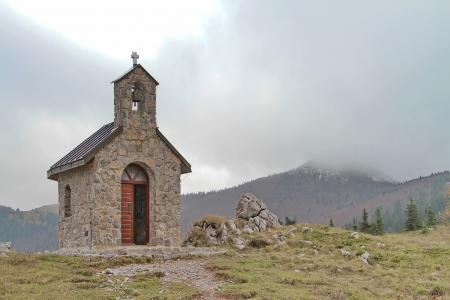 Chapel of St  Anthony at National park Zavizan, Croatia Stok Fotoğraf