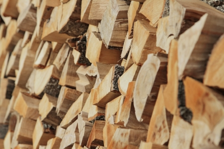kindling: A close up on a pile of slip fire Stock Photo