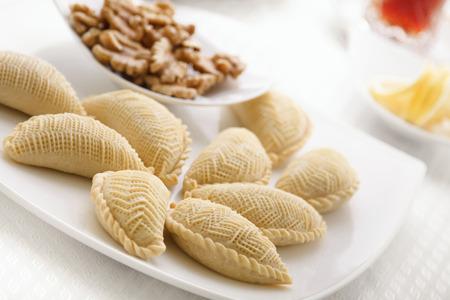 azerbaijani: Traditional azerbaijani sweets for novruz easter close up