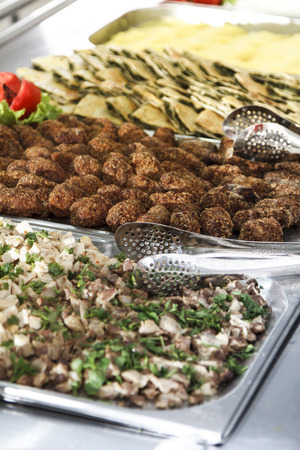 catering food: Catering food for a big group of guests