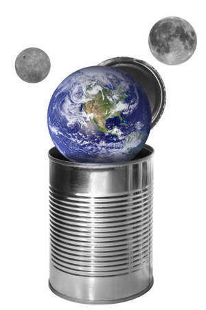 Conserved earth with two sattelites Stock Photo - 1987417