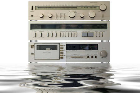 Hi-Fi stereo equipment with reflection Stock Photo - 1990748