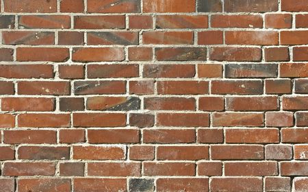 Brick from red clay Stock Photo