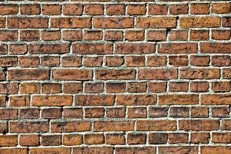 Wall from red brick