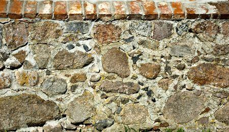 ancient pass: Stone fence Stock Photo
