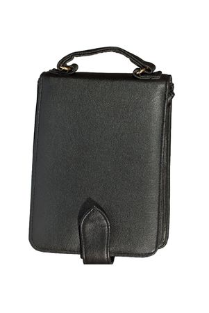 Briefcase on documents and money photo