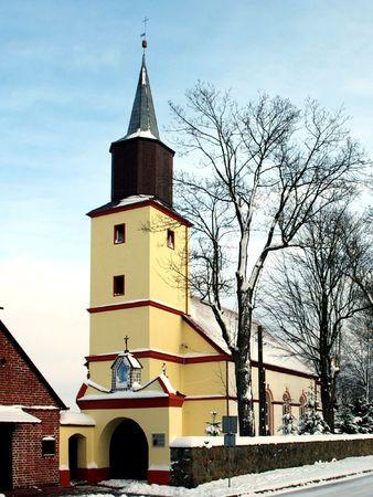 Country parish church in poland  photo