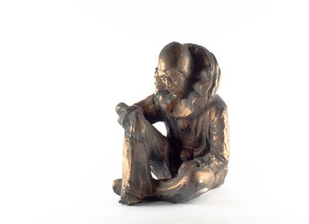lost in thought: Lost in thought arlrkin figurine Stock Photo