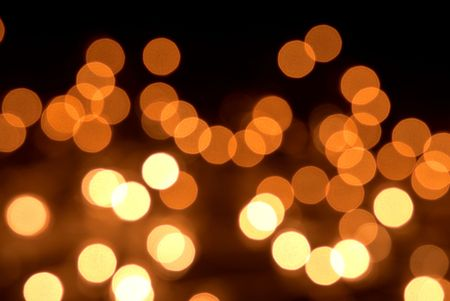 Yellow blurry lights during christmas Stock Photo
