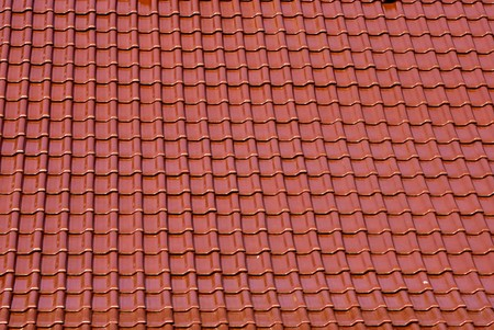 Roof covered with ceramic tiles