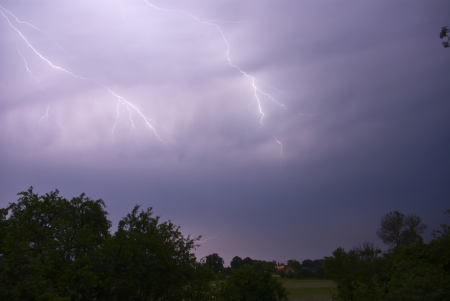 Storms and lightning Stock Photo