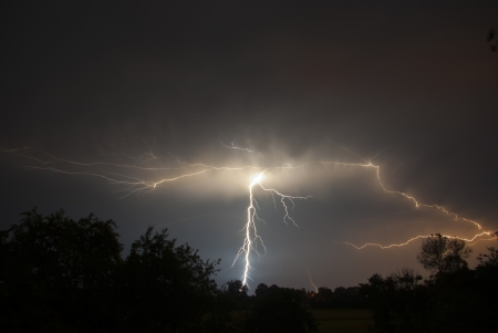 Storms and lightning photo