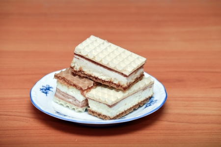 wafers with cream