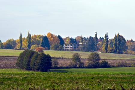 Autumn countryside view Stock Photo