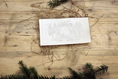 Christmas wafer Stock Photo