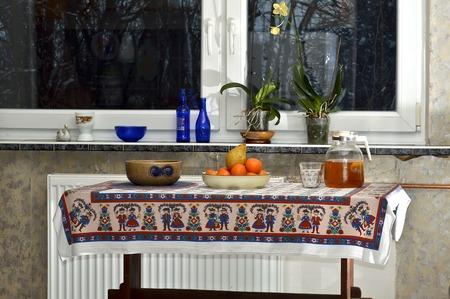 the kitchen table Stock Photo