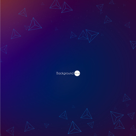 virtual space: Abstract virtual space with screen vector background.