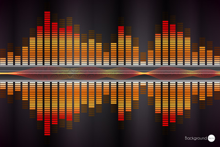 Sound wave. Vector Illustration of music equalizer. Illustration
