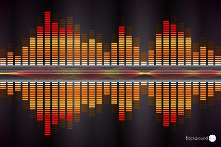 soundtrack: Sound wave. Vector Illustration of music equalizer. Illustration