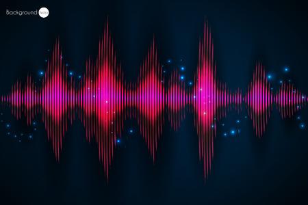 vibrations: Sound wave. Vector Illustration of music equalizer. Illustration