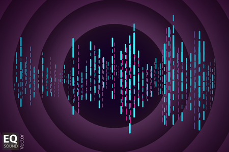 high frequency: Illustration of music equalizer bar in shiny background Illustration