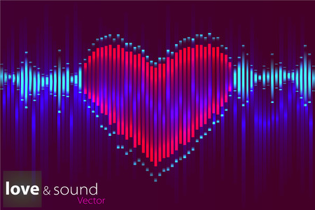 frequency: Illustration of music equalizer bar in shiny background Illustration