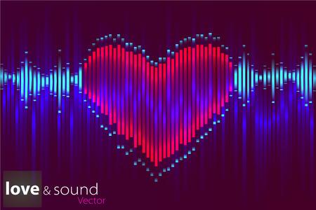 soundtrack: Illustration of music equalizer bar in shiny background Illustration