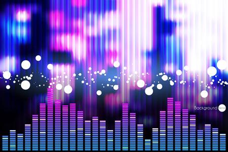Illustration of music equalizer bar in shiny background Illustration