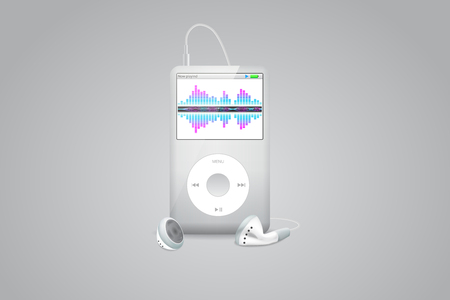 mobile application: Mobile Application Interface: Music Player: Vector Illustration