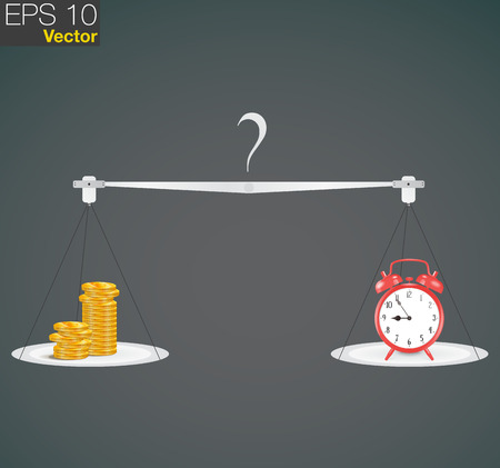 cherish: Scale weighing money and time