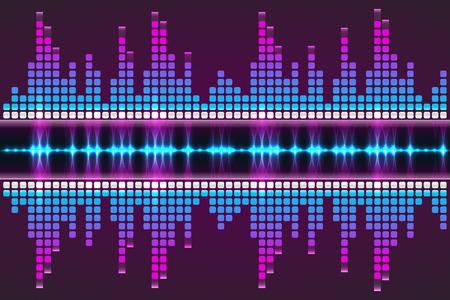 Sound wave. Vector Illustration of a blue music equalizer. Illustration