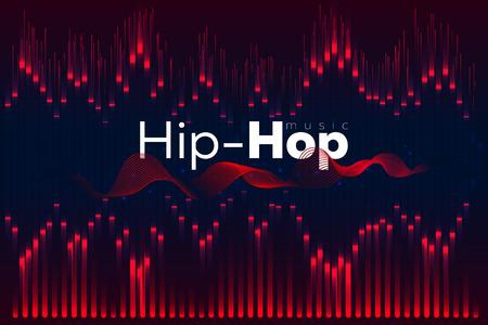 Sound wave. Vector Illustration music equalizer. Hip-hop Illustration