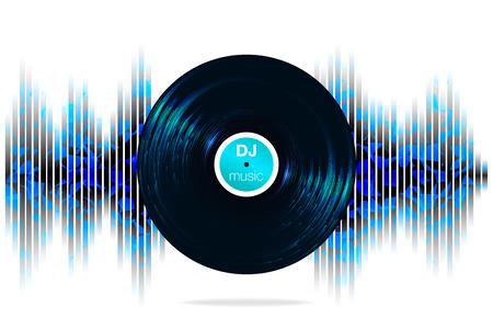 Sound wave. Vector Illustration of a blue music equalizer. Vektorgrafik
