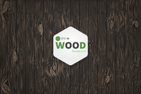 Wood texture. Background. Black Veins. Vector.