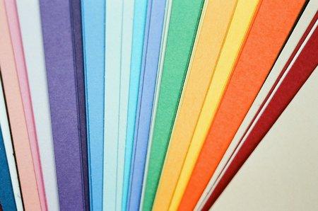 Coloured paper Stock Photo