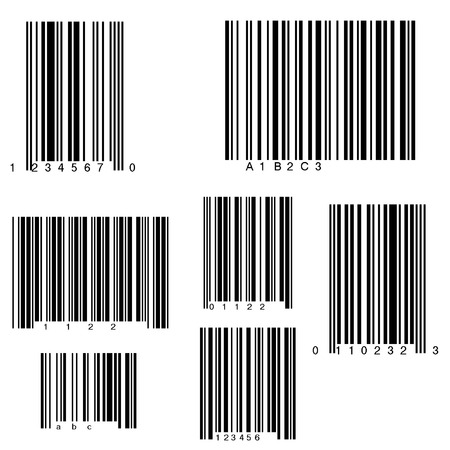 Volledige pagina van streepjes codes