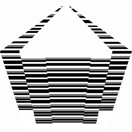La forma geometrica del Pentagono Archivio Fotografico - 3385655